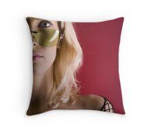half girl Throw Pillow