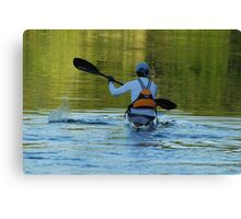 Lone Kayak Canvas Print