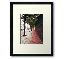 Autumn Alone Framed Print
