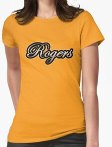 Rogers Drums Vintage Silver Womens Fitted T-Shirt