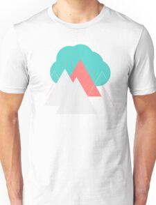 Geometric Landscape, Cloud over Mountains  Unisex T-Shirt