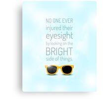 Bright Side -- Sky Blue Canvas Print