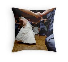 we loved the bride when she use to rock and roll Throw Pillow