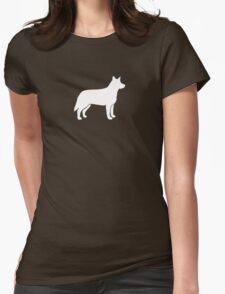 Australian Cattle Dog Silhouette(s) Womens Fitted T-Shirt