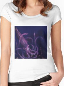 Purple Squid Women's Fitted Scoop T-Shirt