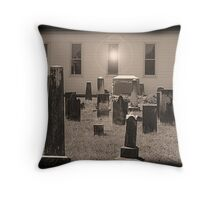 Old Cemetery Throw Pillow