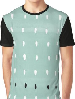 Blue, black and white dotted pattern. Graphic T-Shirt