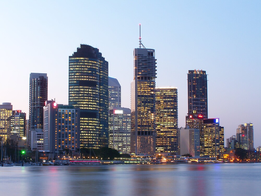 Brisbane Skyline by aperture