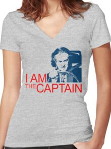 I Am the Captain Women's Fitted V-Neck T-Shirt