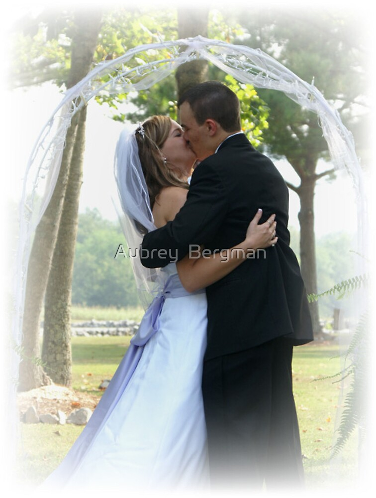 the first kiss by Aubrey  Bergman