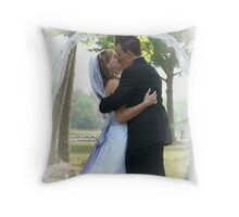 the first kiss Throw Pillow