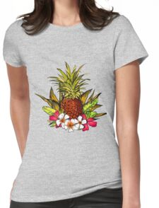 Tropical. Womens Fitted T-Shirt