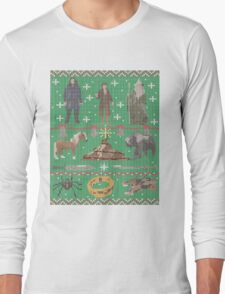Hobbit Christmas Sweater Long Sleeve T-Shirt