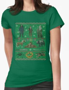 Hobbit Christmas Sweater Womens Fitted T-Shirt