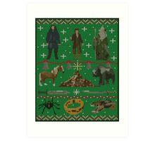 Hobbit Christmas Sweater Art Print