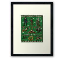 Hobbit Christmas Sweater Framed Print