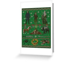 Hobbit Christmas Sweater Greeting Card
