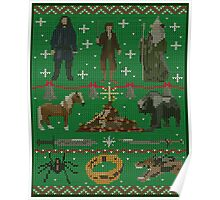 Hobbit Christmas Sweater Poster