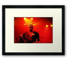 Derrick Green frontman of Brazilian metal band Sepultura Framed Print