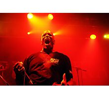 Derrick Green frontman of Brazilian metal band Sepultura Photographic Print