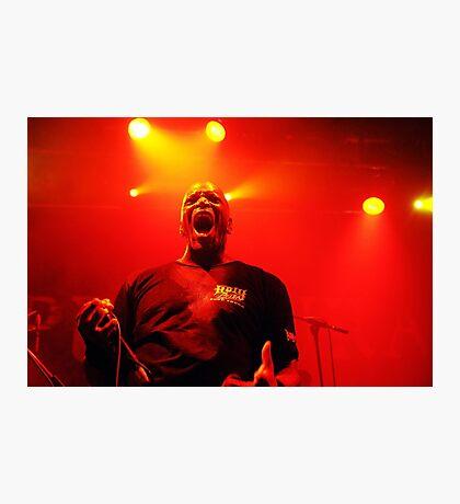 Derrick Green frontman of Brazilian metal band Sepultura Photographic Print