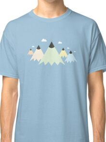 Creative Mountains : Abstract Pen Landscape Scene Classic T-Shirt