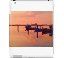 Magical reflection of a small dinghy dory boats iPad Case/Skin