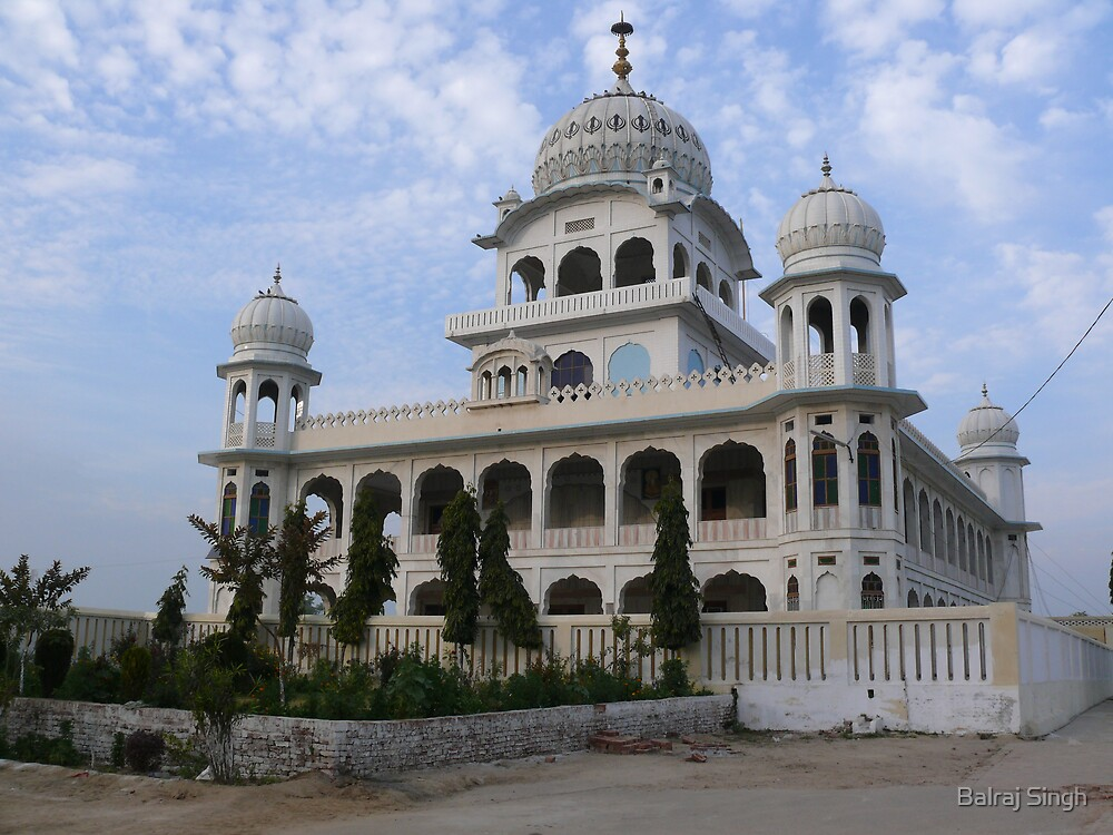 Sikh Gurudwara in rural Punjab, India by Balraj Singh