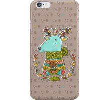 Winter deer iPhone Case/Skin
