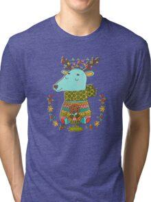 Winter deer Tri-blend T-Shirt