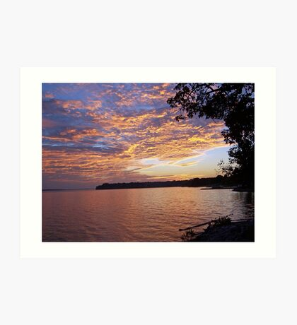 sunset on the tennessee Art Print