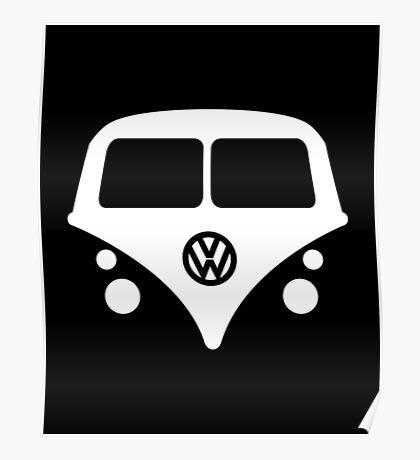 VW Bus Van Poster
