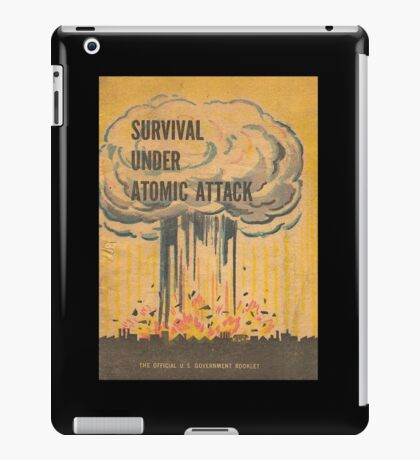 Survival, Atomic, Attack, Poster, 1950 iPad Case/Skin