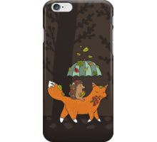 Hedgehog and fox iPhone Case/Skin