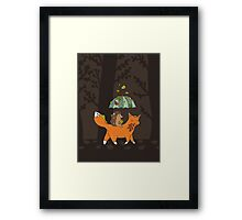Hedgehog and fox Framed Print
