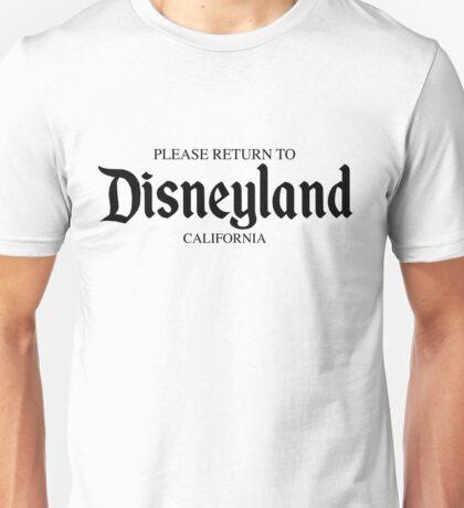 Please Return to Disneyland Unisex T-Shirt