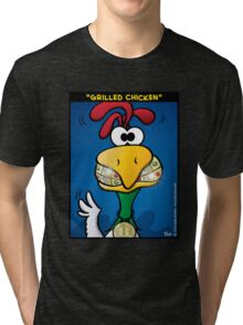 """""""Grilled Chicken"""" by Evil Crayon Tri-blend T-Shirt"""