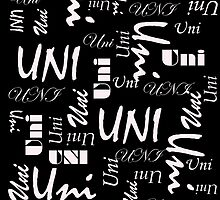 Uni (White Writing on Dark Backgrounds) by C J Lewis