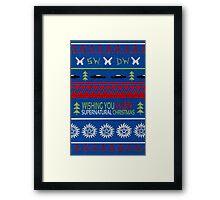 Supernatural Christmas Sweater Framed Print