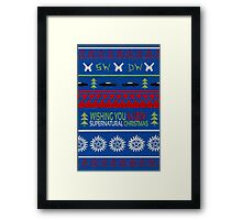 Supernatural Christmas Sweater Framed Print