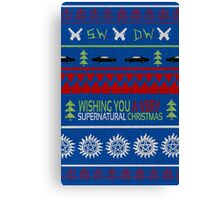 Supernatural Christmas Sweater Canvas Print