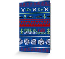 Supernatural Christmas Sweater Greeting Card