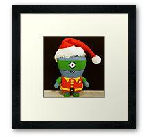 Xmas Robin Framed Print