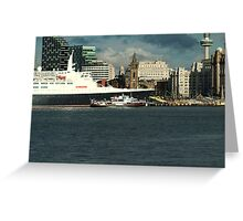 The QE2 VISITS LIVERPOOL FOR THE LAST TIME-3 Greeting Card