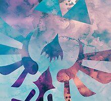 Watercolor Hylian Crest (The Legend of Zelda) by enthousiasme