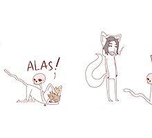 """""""alas! poor yorick"""" weird cats by wade-ebooks"""