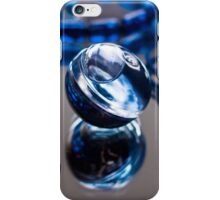 Blue Bubble - Macro Photography iPhone Case/Skin