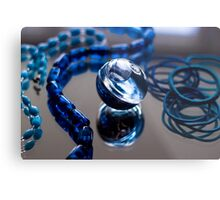 Blue Bubble - Macro Photography Metal Print