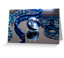 Blue Bubble - Macro Photography Greeting Card