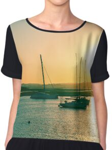 Sunset in Alvor Chiffon Top